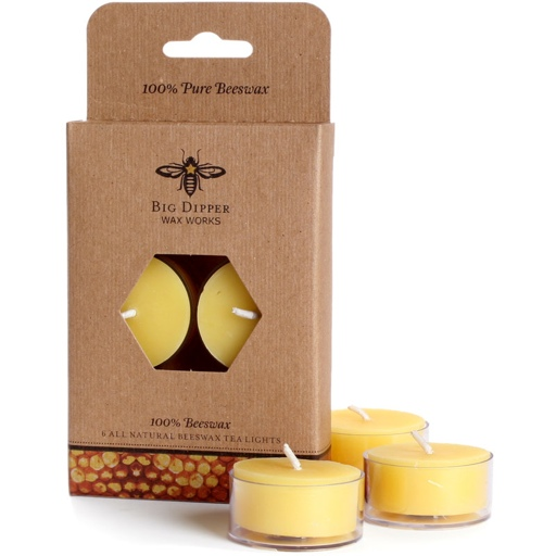 Beeswax Tealights, Set of 6
