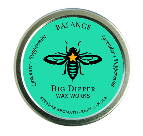 Aromatherapy Beeswax Travel Candle, Balance