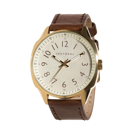 Gable Watch, Brown/Beige