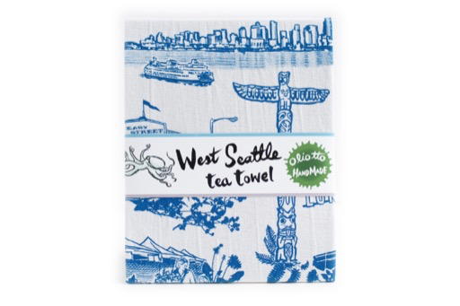 West Seattle Tea Towel