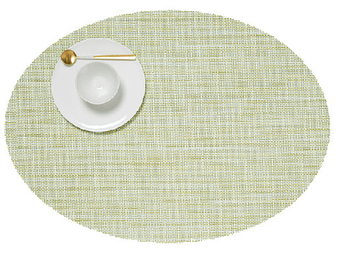 Placemat, Mini Basketweave, Matcha green, Oval