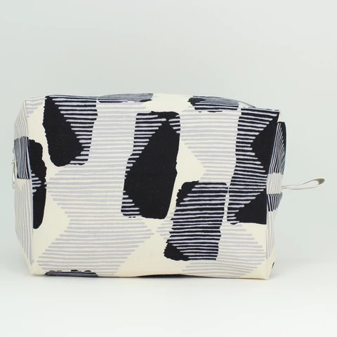 Black + Grey Abstract Dopp Kit