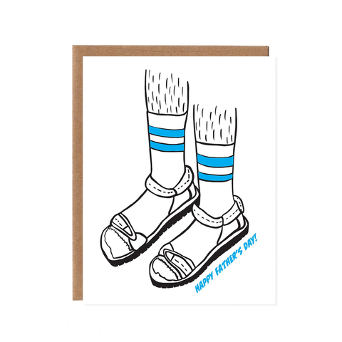 Fathers Day Card, Socks and Sandals