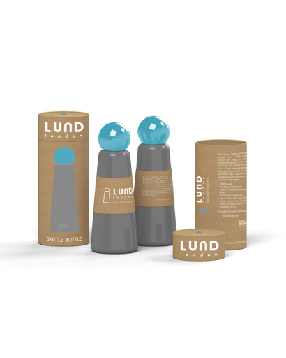 Stainess Thermos Bottle, Grey + Sky Blue