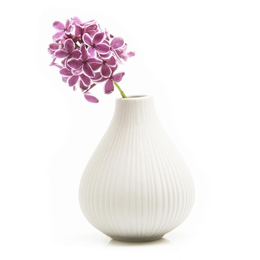Ceramic Bud Vase, White