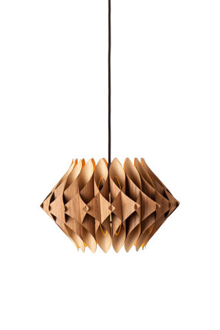 Scalar Series Swag Pendant Lamp, Teak