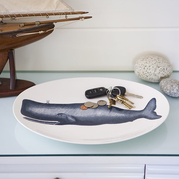 Scrimshaw Whale Tray