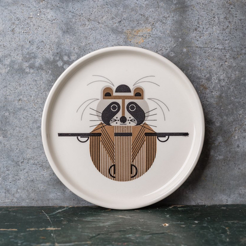 Charley Harper Raccoon Mini Dish
