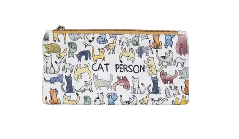 Cat Person Zippered Pouch