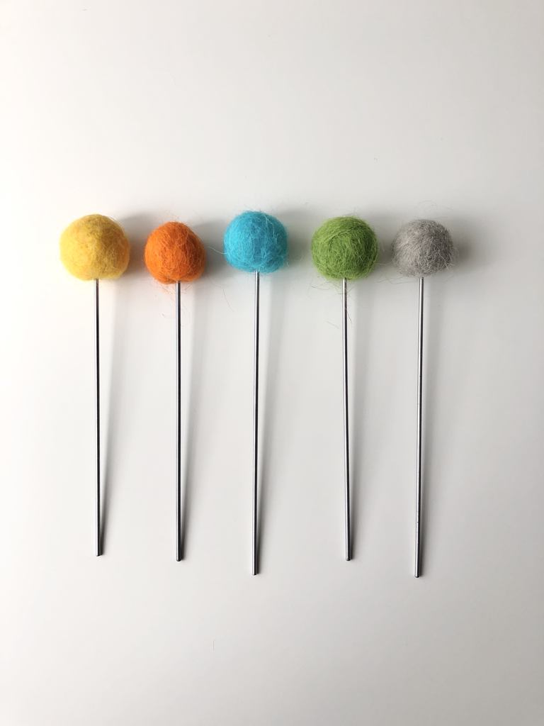 Felt + Steel Flower Bouqet, 5 stems
