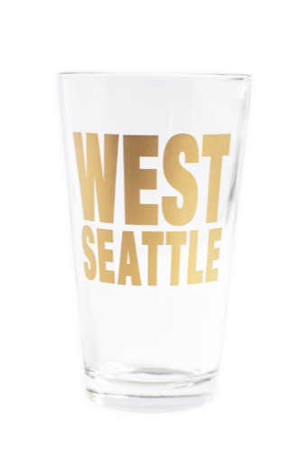 West Seattle Pint Glass - Gold