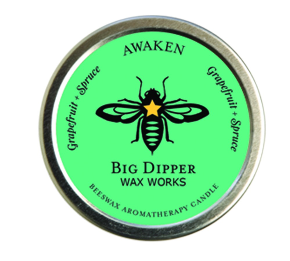 Aromatherapy Beeswax Travel Candle, Awaken