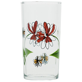 Italian Wine Glass, Spiral-Floral pattern