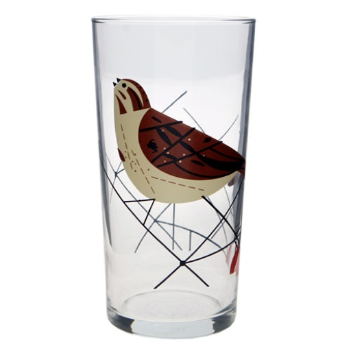Charley Harper Bird Glasses Set 4