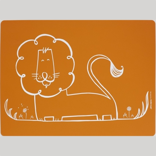 Kids Placemat, Dandy Lion, Orange