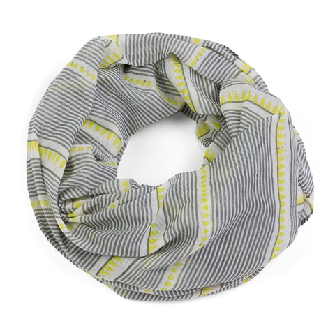 Laya Chartreuse Cotton Scarf