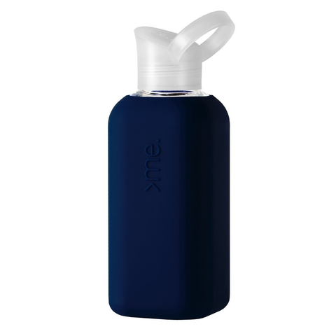 Glass + Silicone Water Bottle, Navy