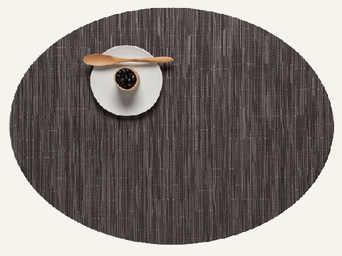 Placemat, Bamboo weave, Grey Flannel, Oval