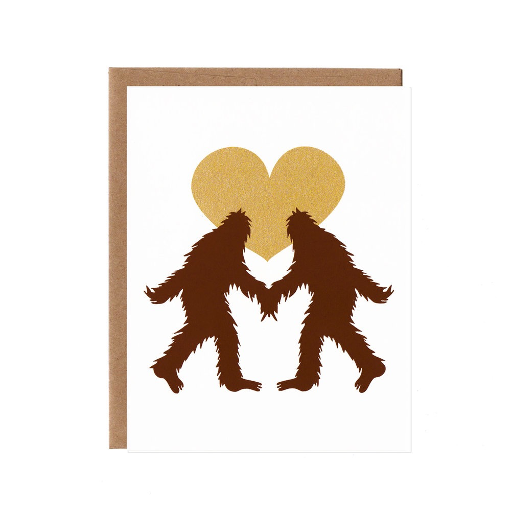 Sasquatch in Love Card