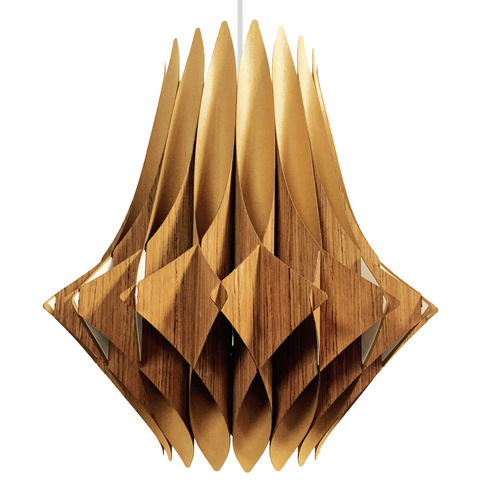 Vector Series Swag Pendant Lamp, Oak