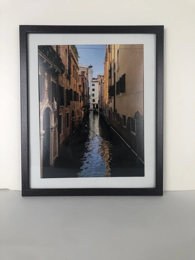 Canal with Gondola, Framed Photograph