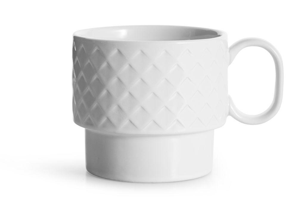 Large Textured Mug - White