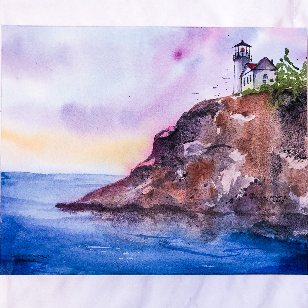 Off the Coast, Original Watercolor