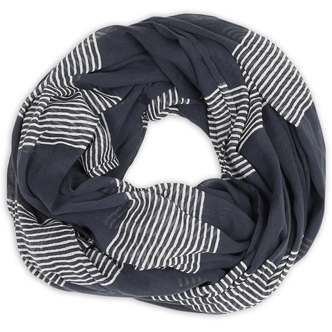 Raya Stripes Navy Cotton Scarf