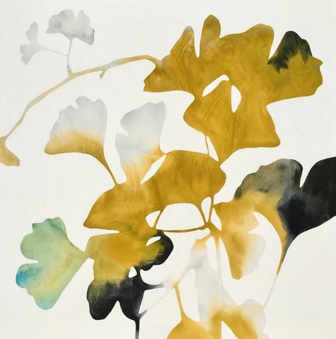 Ginkgo Botanical Watercolor by Rachel Austin, 30x30