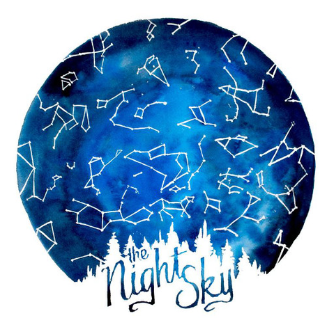 The Night Sky 12x12 Print