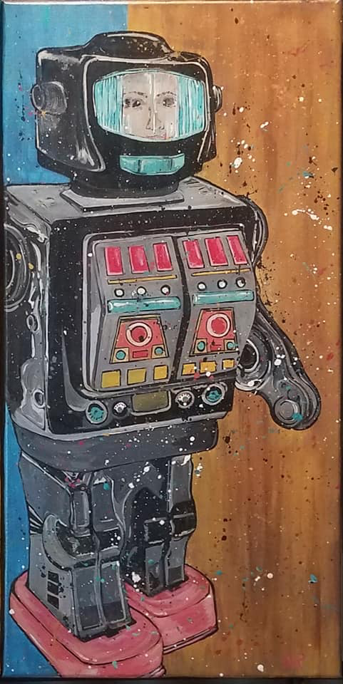 Rotate-O-Matic - The 70's Series - Acrylic on Canvas