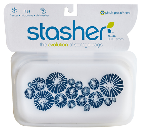 Stasher Silicone Bag, Snack Sized, Indigo