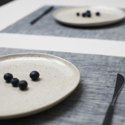 Silicone placemat, Denim Blue