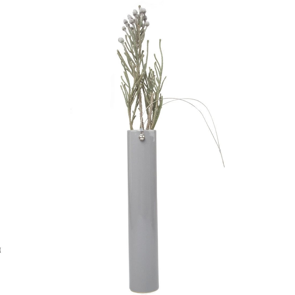 Wall or Table Vase, Grey