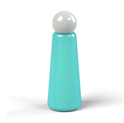Stainess Thermos Bottle, Turquoise + Grey