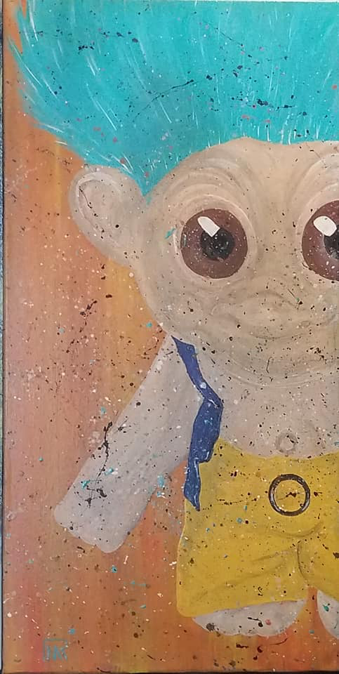 Troll Doll - The 70's Series - Acrylic on Canvas