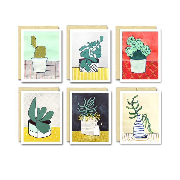 Houseplants Notecard Set