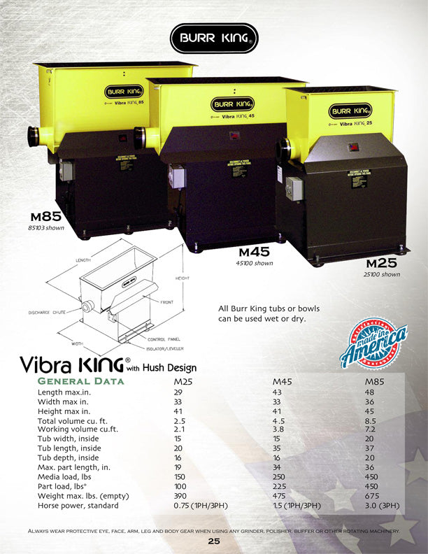 Vibra KING Chambers Model 25 - 2013 Burr King Catalog 63_ Catalog website Page 25