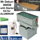 STARTER KIT for ALUMINUM - Mr Deburr 300DB with Plastic Media and General Purpose Cleaner Compound