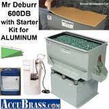 STARTER KIT for ALUMINUM - Mr Deburr 600DB with Plastic Media and General Purpose Cleaner Compound