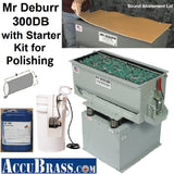 STARTER KIT for POLISHING - Mr Deburr 300DB with Porcelain Media and Burnishing Compound