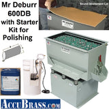 STARTER KIT for POLISHING - Mr Deburr 600DB with Porcelain Media and Burnishing Compound