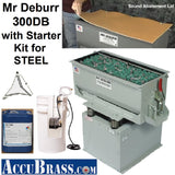 STARTER KIT for STEEL- Mr Deburr 300DB, Ceramic Media and Heavy Duty Cleaner Compound