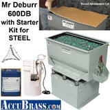 STARTER KIT for STEEL- Mr Deburr 600DB, Ceramic Media and Heavy Duty Cleaner Compound