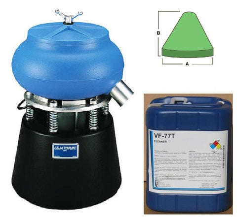 TLV 50 STARTER KIT FOR ALUMINUM with Plastic Media and General Purpose Cleaner Compound