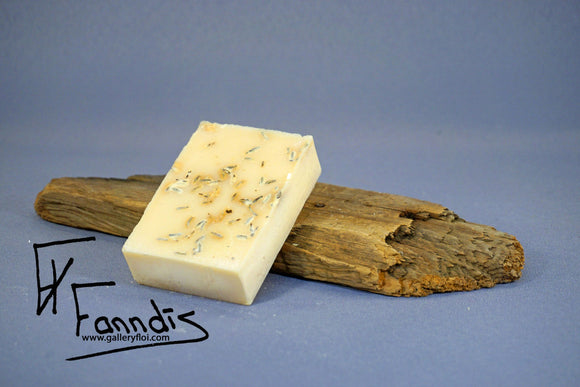 Sápa með Fífil og Lavender ilmkjarnaolíu / Soap with Dandelion and Lavender essential oil