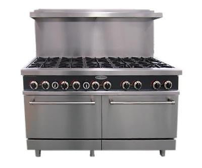 ServWare SGR-10 10 burner gas range w/ double full size ovens BRAND NEW IN BOX