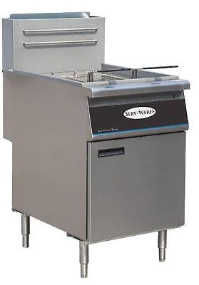 ServWare SGF-5 80 lb gas fryer BRAND NEW 1 year warranty - BUYREL