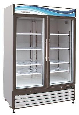 ServWare GF-48 glass door freezer merchandiser BRAND NEW 48 cubit feet - BUYREL