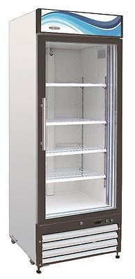 ServWare GF-23 glass door freezer merchandiser BRAND NEW 23 cubit feet - BUYREL